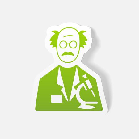 realistic design element. scientist