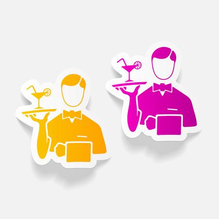 realistic design element. waiter