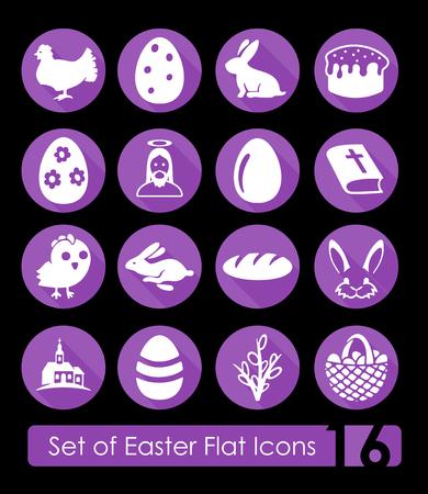 Set di icone di Pasqua