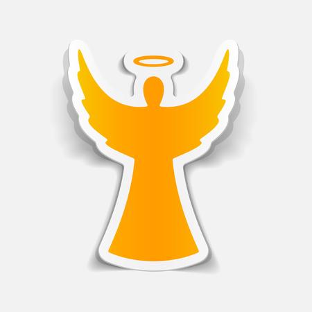 realistic design element: angel Vettoriali
