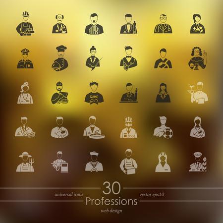 Set van beroepen pictogrammen