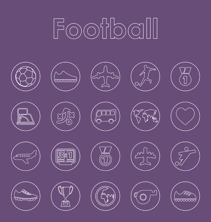 Set van voetbal eenvoudige pictogrammen Stock Illustratie