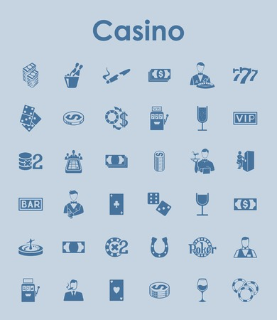 Set of casino simple icons Illustration