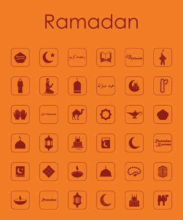 Set of ramadan simple icons Illustration