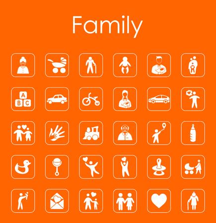 Set of family simple icons Фото со стока - 83677915