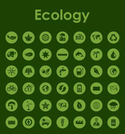 生態学の簡単なアイコンのセット  イラスト・ベクター素材