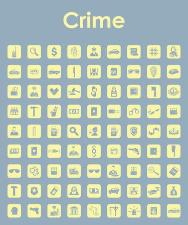 Set von Verbrechen einfache Symbole Standard-Bild - 83677917