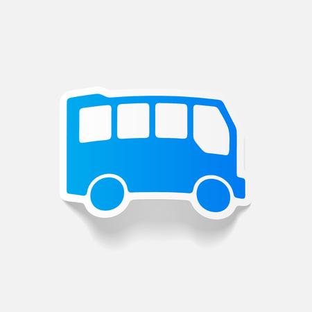 Realistisches gestaltungselement: bus Standard-Bild - 83677977