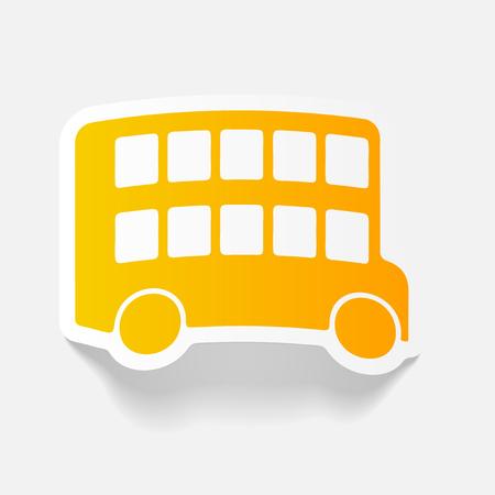 realistische ontwerpelement: bus dubbeldekker