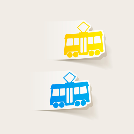 realistic design element: tram Stock Vector - 83677987