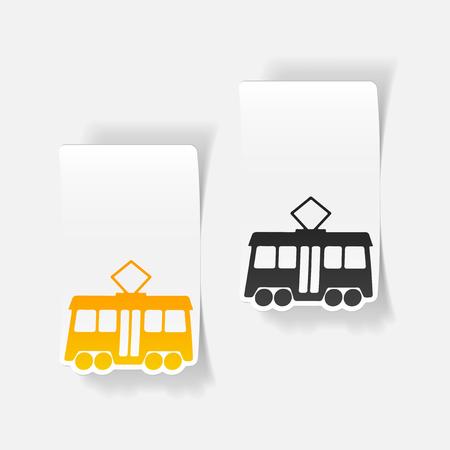 realistic design element: tram