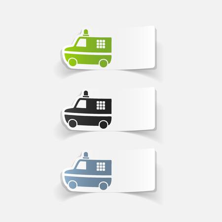 realistic design element. police car Ilustração