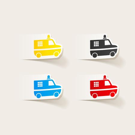 realistic design element. police car Illusztráció