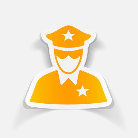 gorra policía: elemento de diseño realista. oficial de policia