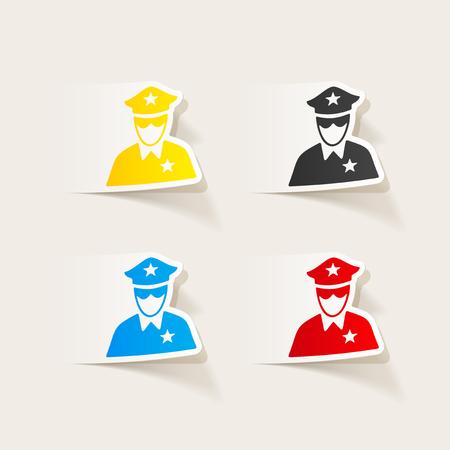 patrol: realistic design element. police officer Illustration