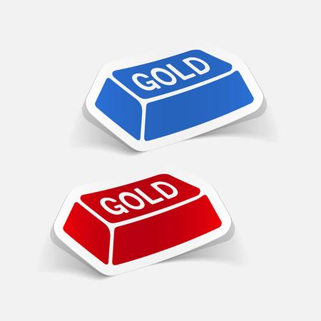 realistic design element. bullion gold Illustration