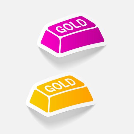 realistic design element. bullion gold Иллюстрация