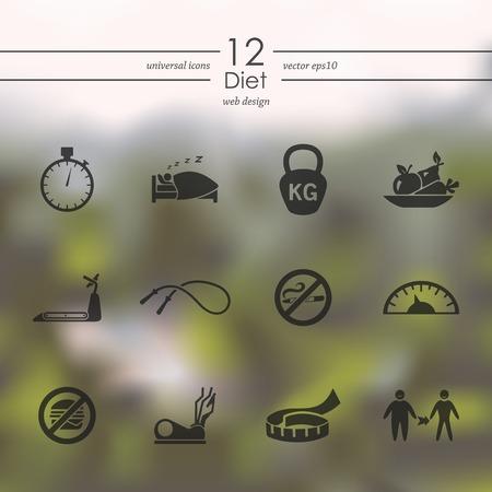 Set of diet icons 向量圖像