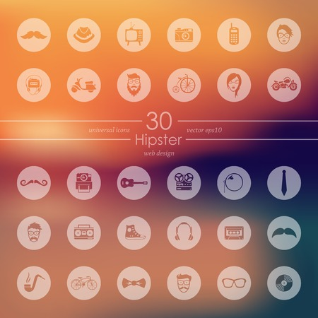Set of hipster icons Stock fotó - 83792686