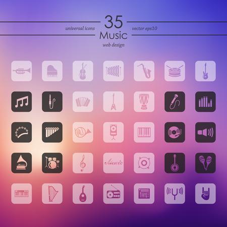 Set muziek pictogrammen