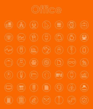 Set van office eenvoudige pictogrammen