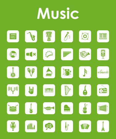 workmanship: Set of music simple icons