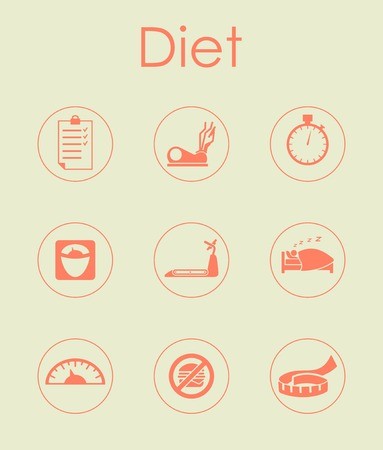 Set of diet simple icons Stock fotó - 83792931