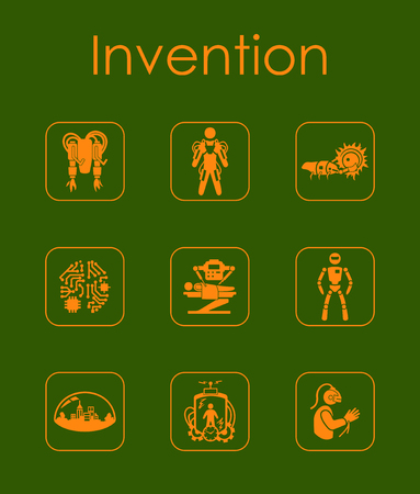 Set of invention simple icons Stock Vector - 83792935