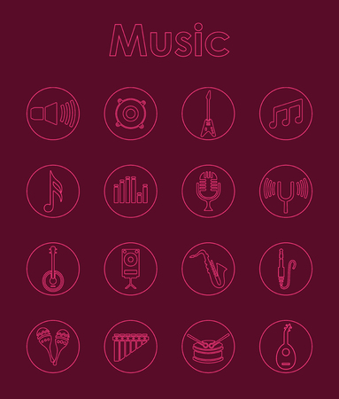 Set of music simple icons