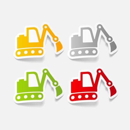 realistic design element: excavator