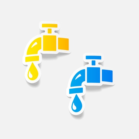 realistic design element: water tap Illustration