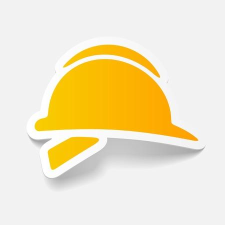 realistic design element: helmet 向量圖像