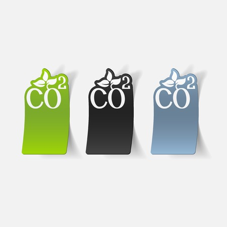realistic design element: co2 sign dioxide