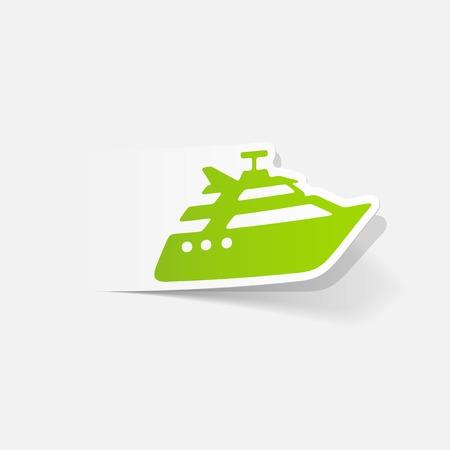 realistic design element: yacht Stock Vector - 83792015