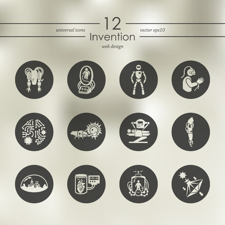 Set of invention icons Imagens - 84287392