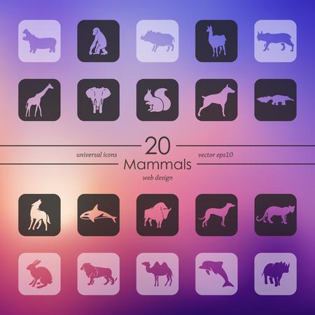 Set of mammals icons