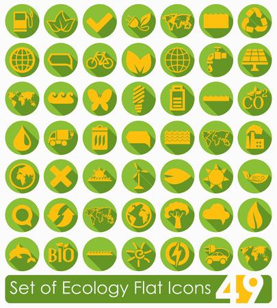 Set of ecology icons Ilustração