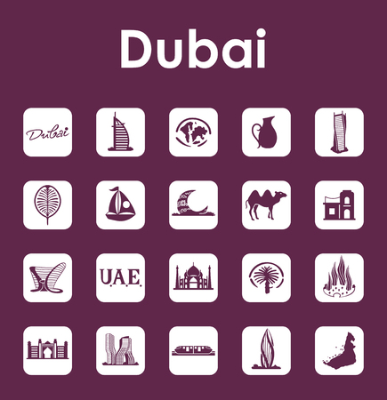 Set of Dubai simple icons