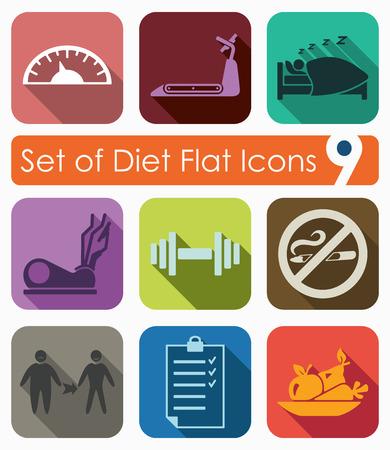 Set of diet icons Иллюстрация
