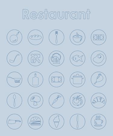 Set van restaurant eenvoudige pictogrammen