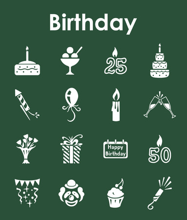It is a set of birthday simple web icons