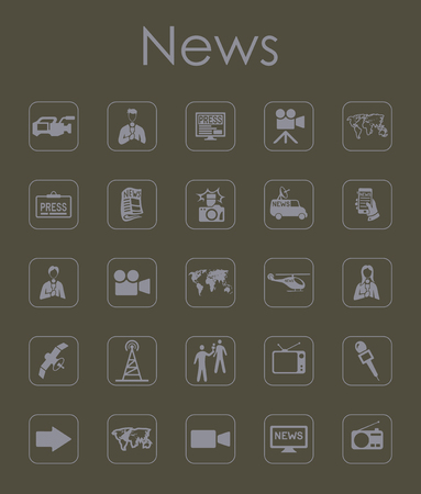 It is a set of news simple web icons Illustration