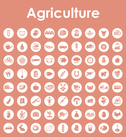 It is a set of agriculture simple web icons Çizim