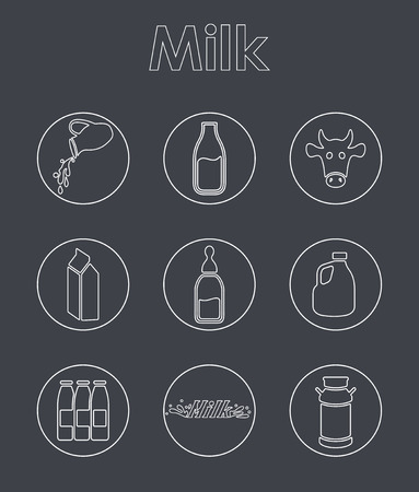 It is a set of milk simple web icons