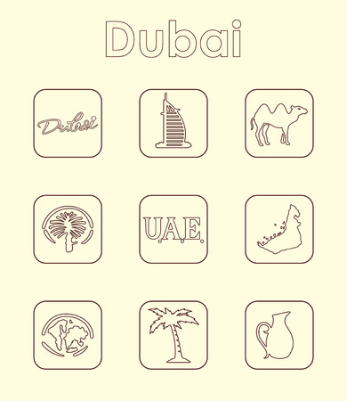 It is a set of Dubai simple web icons Ilustração