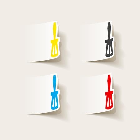 realistic design element: screwdriver