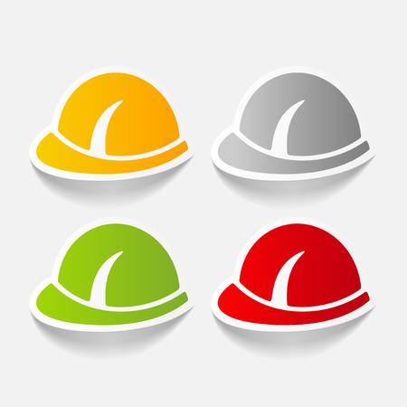 realistic design element: helmet Illustration