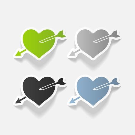 realistic design element: heart Reklamní fotografie - 84291322