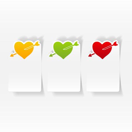 realistic design element: heart Stok Fotoğraf - 84291325
