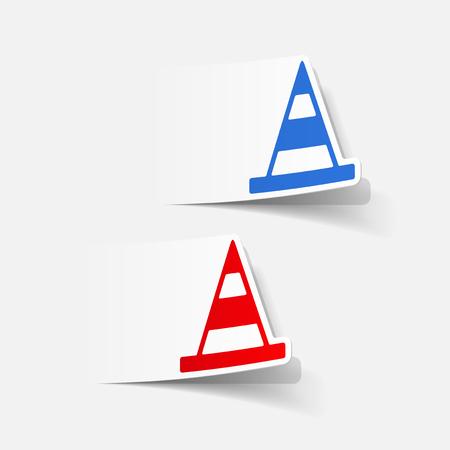 realistic design element: road cones Иллюстрация